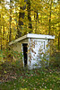 Sunken Outhouse at Old School, Green County, Wisconsin