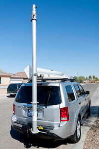 Total Mast Solutions 17Meter Fast Mast in deployed position