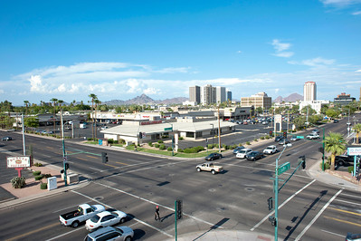 LAAP Elevated Mast Photograph Commercial Property at 7Th Ave & Osborn, Phoenix AZ