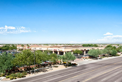 Elevated Mast Photography of Commercial Property at Bell and Reese, Phoenix AZ