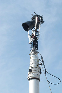 3 Axis Camera Gimbal on 17 Meter Pneumatic Mast