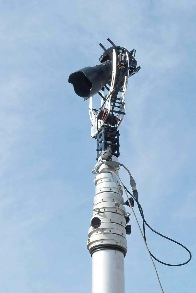 3 Axis Camera Gimbal on 17 Meter Pneumatic Mast