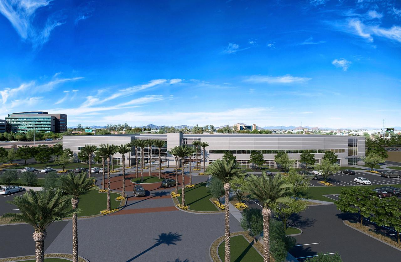 Architectural 3D rendering of 32St & Interstate 10 in Phoenix, AZ