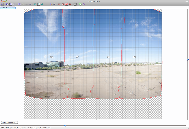 4 Photographs stitched in PTGui