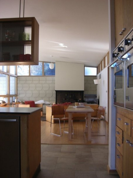 family room, viewed from the kitchen