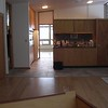 view from the family room toward the kitchen (from move-in day)