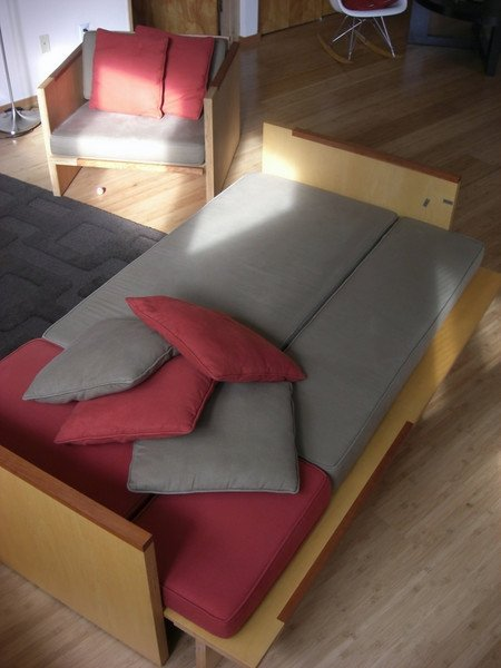 couch, converted, w/ chair