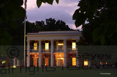 The mansion just before sunrise.