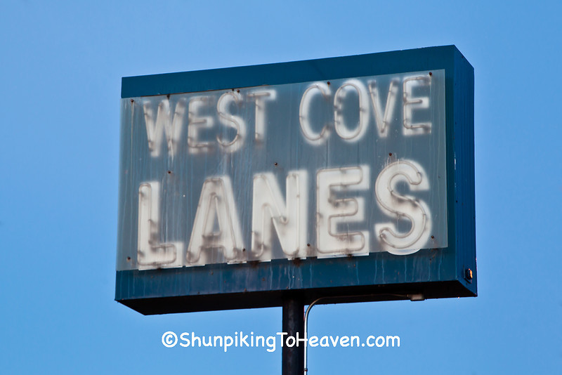 Antique Bowling Alley Sign, Rusk County, Wisconsin