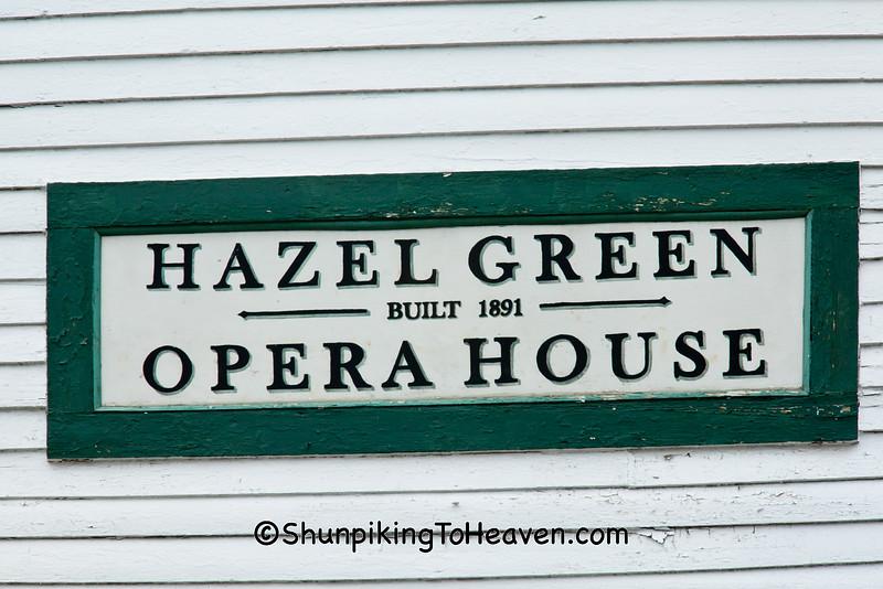 Hazel Green Opera House and Town Hall, Built 1891, Hazel Green, Wisconsin