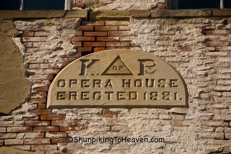 Knights of Labor (Knights of Pythias) Opera House, 1881, Shawnee, Ohio