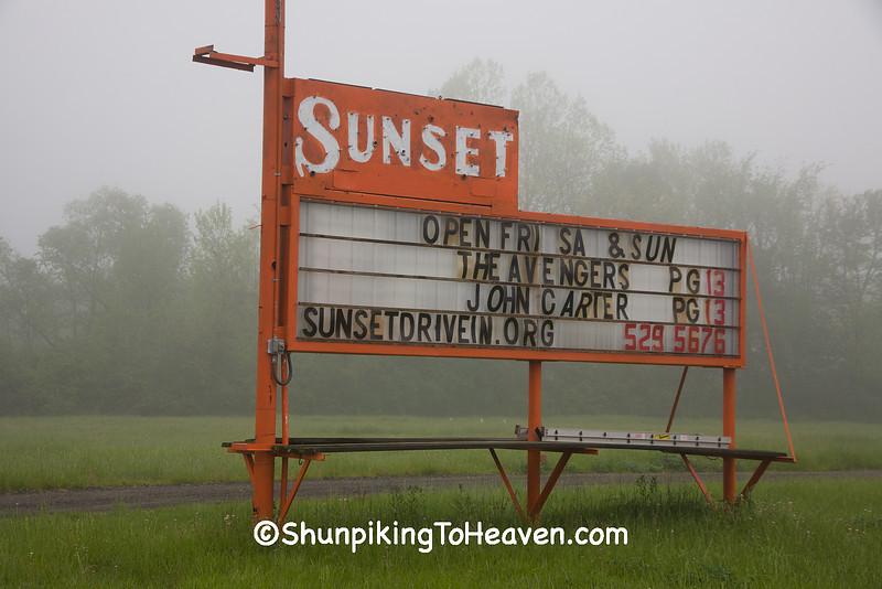 Sunset Drive-In Theatre, Richland County, Ohio