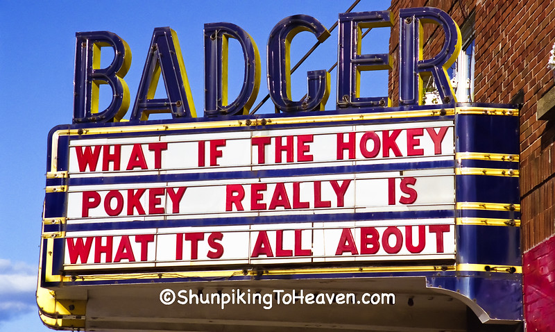 Humor at the Badger Theater, Built 1924, Sauk County, Wisconsin