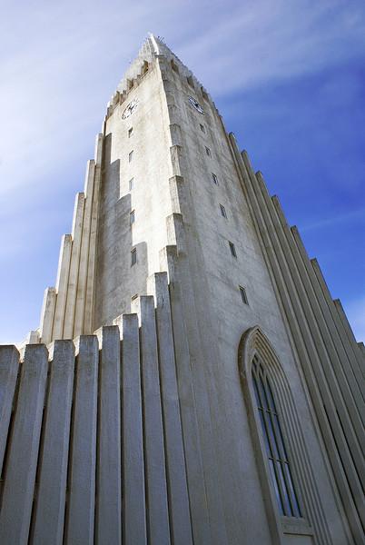 View of Hallgrimskirkja Lutheran Cathedral, reykjavik City, Iceland