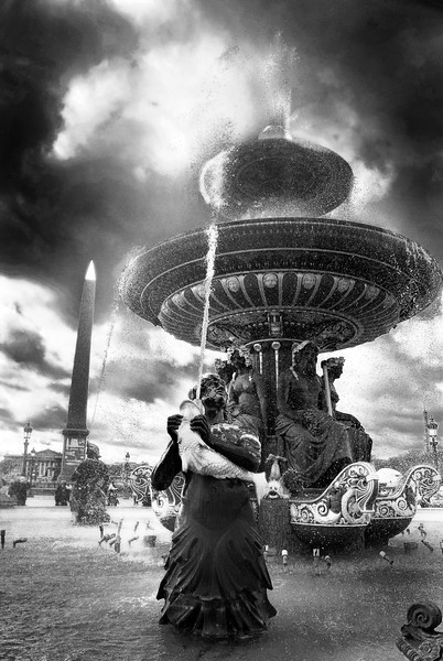 Fountain at the Place de la Concorde, Paris, France