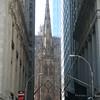 Wall Street facing Trinity Church