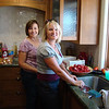 Food prep, Diane and niece Tammy
