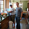 Food prep, Mike and Max