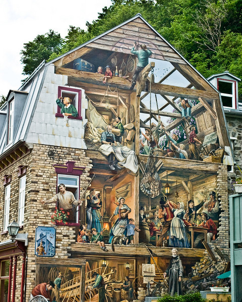 A different kind of Facade Story....a painted one!, Quebec City