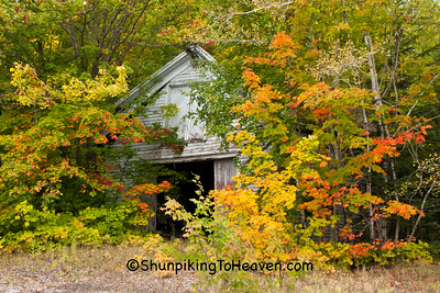 Barn and Fall Color, Houghton County, Michigan