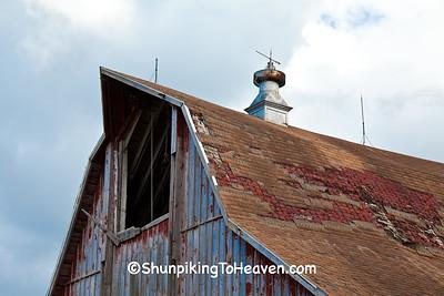 Hay Hood on Unique Barn, Vernon County, Wisconsin
