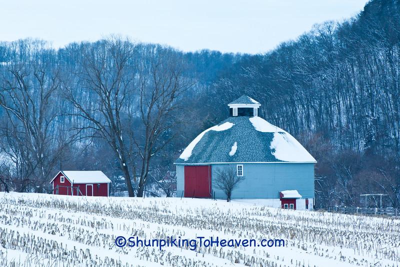 Round Barn in Winter, Vernon County, Wisconsin