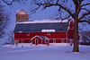 Red Barn in Winter, Rock County, Wisconsin