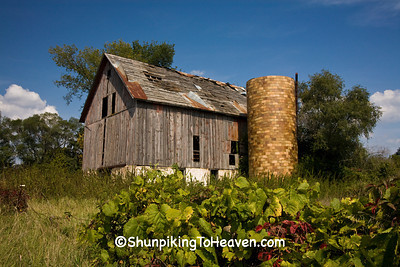 Old Barn with Tile Silo, Richland County, Wisconsin