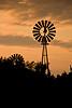 Two Windmills at Sunrise, Fayette County, Iowa