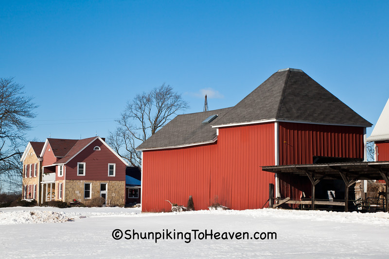 Historical Hop House and Stack & Block House, Sauk County, Wisconsin