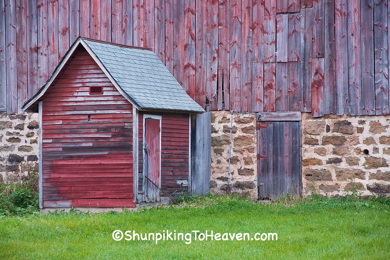 Red Milkhouse and Barn Foundation, Richland County, Wisconsin