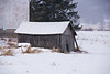Old Gray Shed on a Snowy Day, Sauk County, Wisconsin
