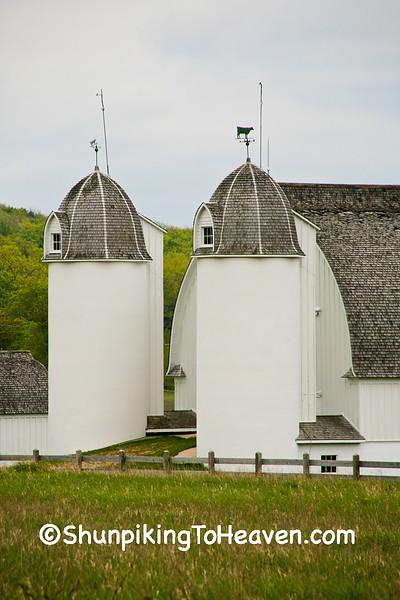 Twin Silos on D.H. Day Farm, LeeLanau County, Michigan