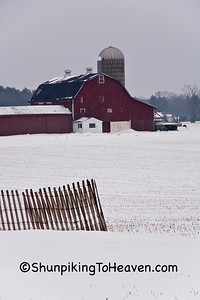 Winter Farm Scene, Waukesha County, Wisconsin