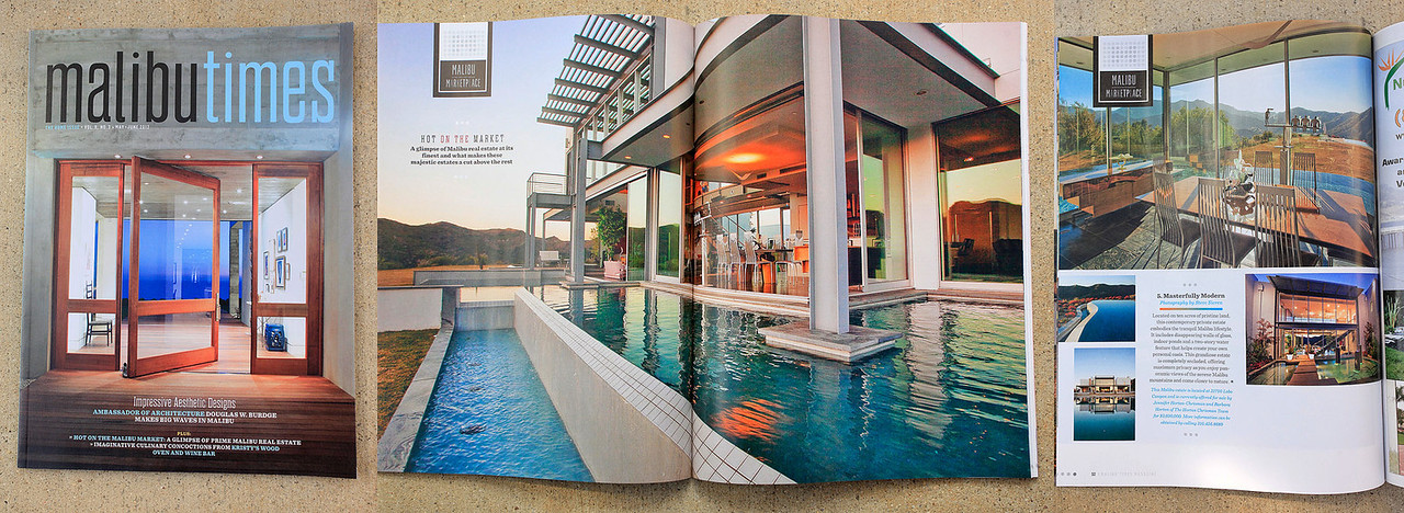 As seen in Malibu Time Magazine June 2012<br /> Los Angeles Real Estate Photographer