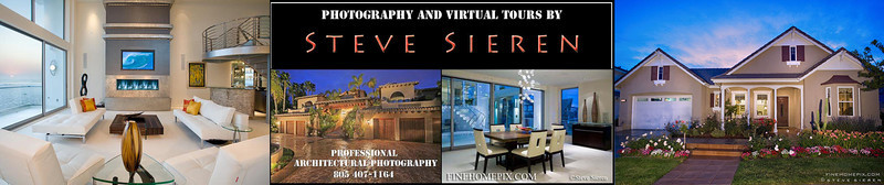 "FOR BOOKING: Please call (805) 407-1164 Now!! or email Steve@finehomepix.com  Advantages That Make Sales     -         FINEHOMEPIX.COM  • Motivate perspective buyers or renters with professional photography by creating mood & atmosphere  • Inspire action with wide angle acuity and space  • Enhance your professional image  • Save your energy with internet compatable images ready for uploading  • Quick turn around most of the time - 24 hours or less • Full Screen Virtual Tour Property Website w/ music and property description and viewer statistics • File sizes big enough to print up to 50-75"". advertising signs or billboards if needed(please specify) • Up to 40 Interior & Exterior shots photographs • External flash lighting unit(s) to evenly expose each room and eliminate harsh shadows • No distorted ""fish-eye"" or ""360"" look • Digital Download via Email  • All photos are backed up for years!! • Professional audio tours sydicated to the biggest home buyer sites • Digital staging for vacant rooms  Example Virtual Tour - Previous advertisement in Dream Homes Magazine   Malibu Mountain Home Estate"
