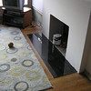 """Fireplace remodel 2008 - granite slab goes in. Tony O from <a href=""""http://stonemastersinc.com"""">Stone Masters</a> hooked me up with the granite, it's beautiful!"""