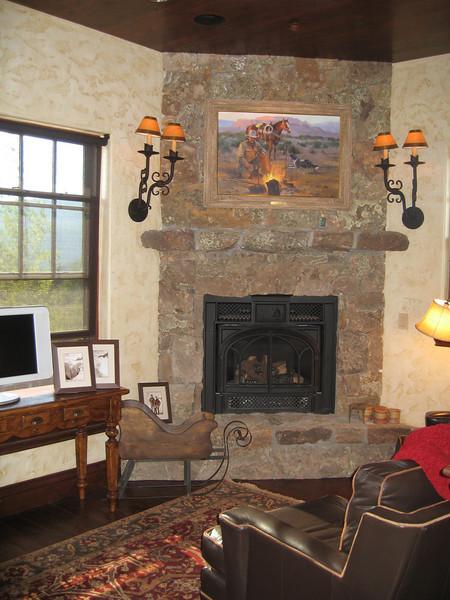 A cozy hearth space in Vail, Colorado