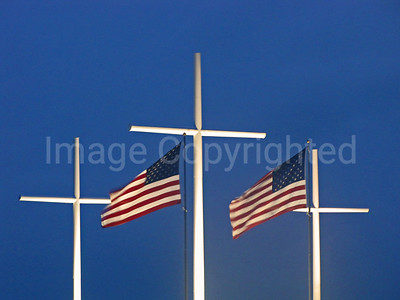 Flags and crosses - 8/23/10