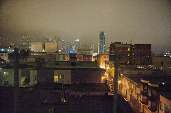 Foggy Night in the City 1-24-09