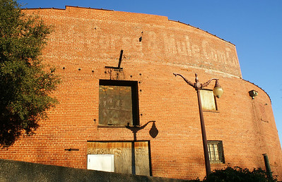 Another ghost sign from the Stockyards past...Stockyards Horse & Mule Comm Co.
