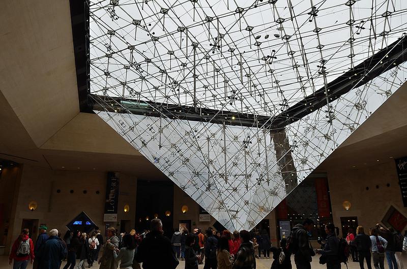 před vstupem do galerie Louvre