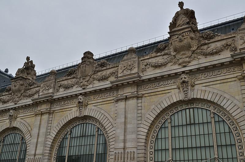 Muzeum d´Orsay - detail (budova byla původně nádraží)