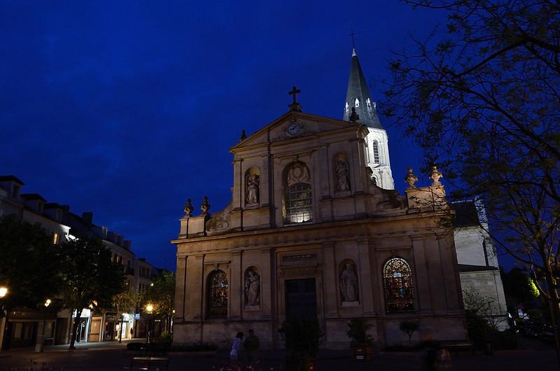 kostel ve čtvrti Malmaison, kde jsme byli ubytováni