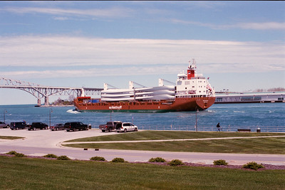 Freighter with Windmills