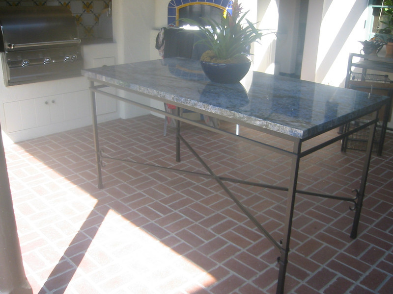 Pizza oven table - Bell residence, Pasadena, CA
