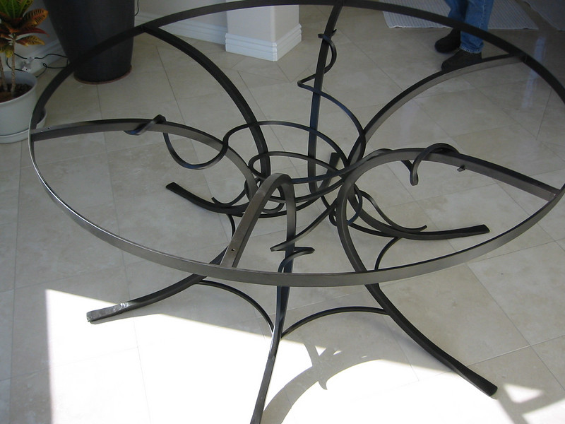 Table base close-up - Monrovia, CA