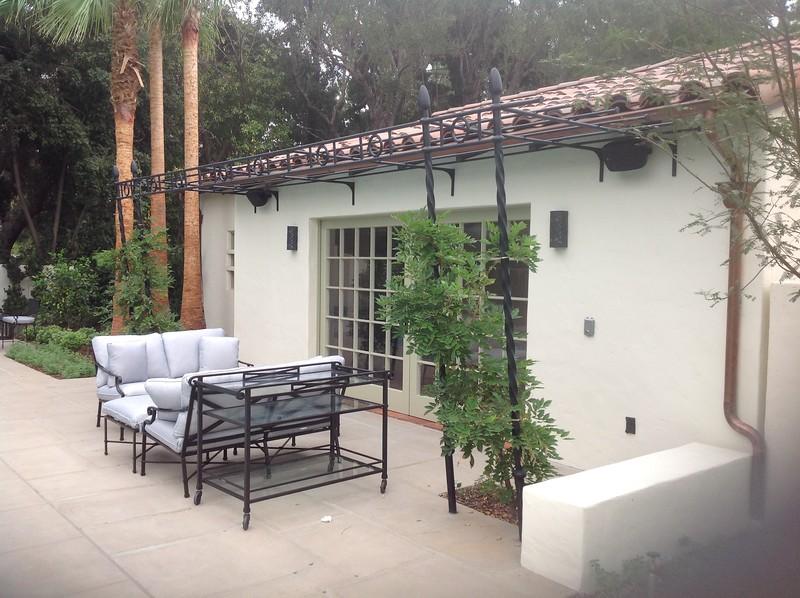 Poolside Canopy; Miller residence, San Marino, CA