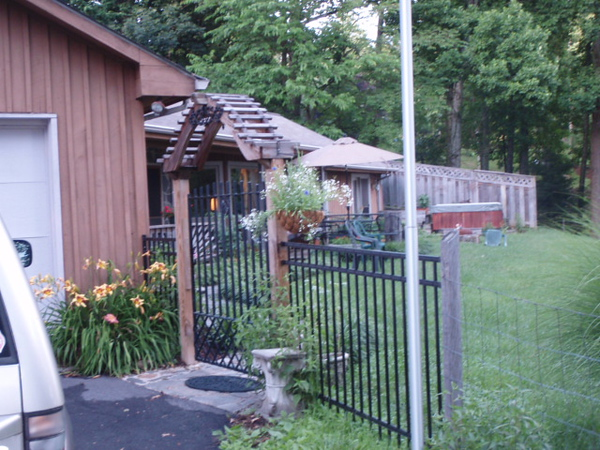 The upper gate into our front yard.