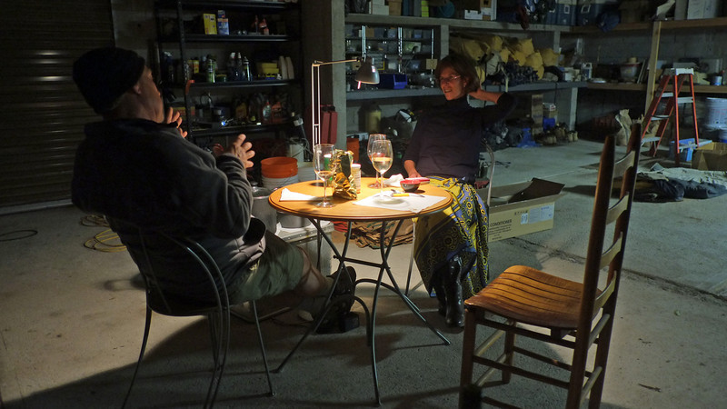 the winters are quite cold - so we had dinner in the garage (January 2013). A very memorable day